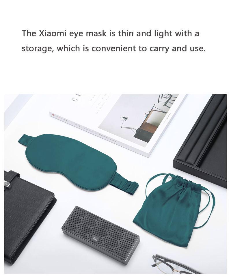 new xiaomi mijia heated silk eye mask usb charging