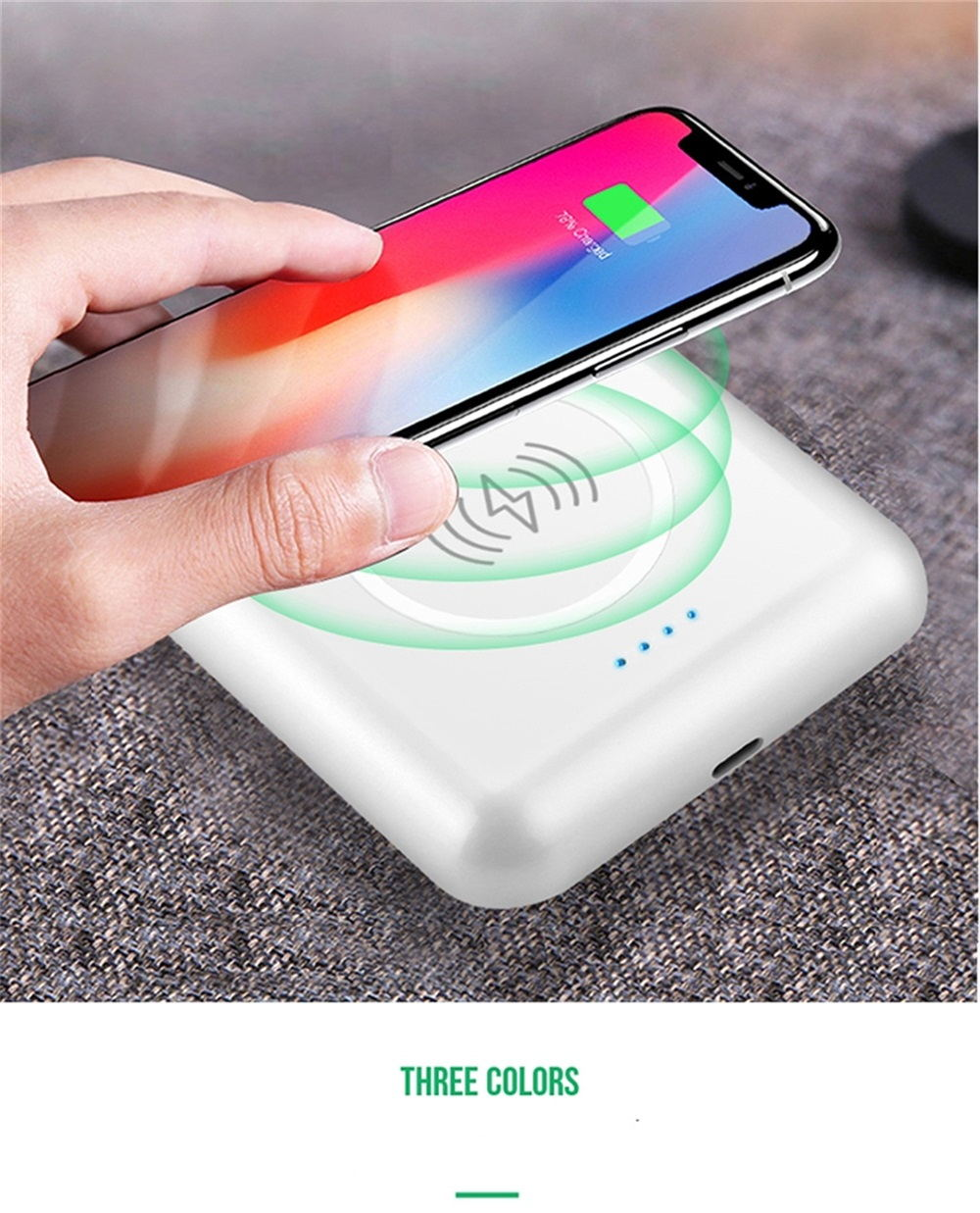 3-in-1 wireless charging mobile power headphones 2019
