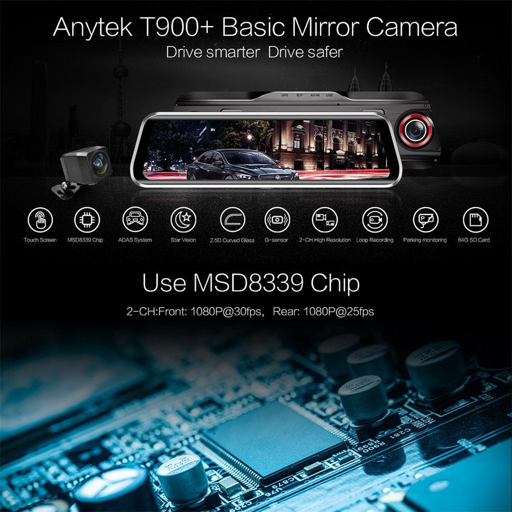 anytek t900+ basic mirror camera