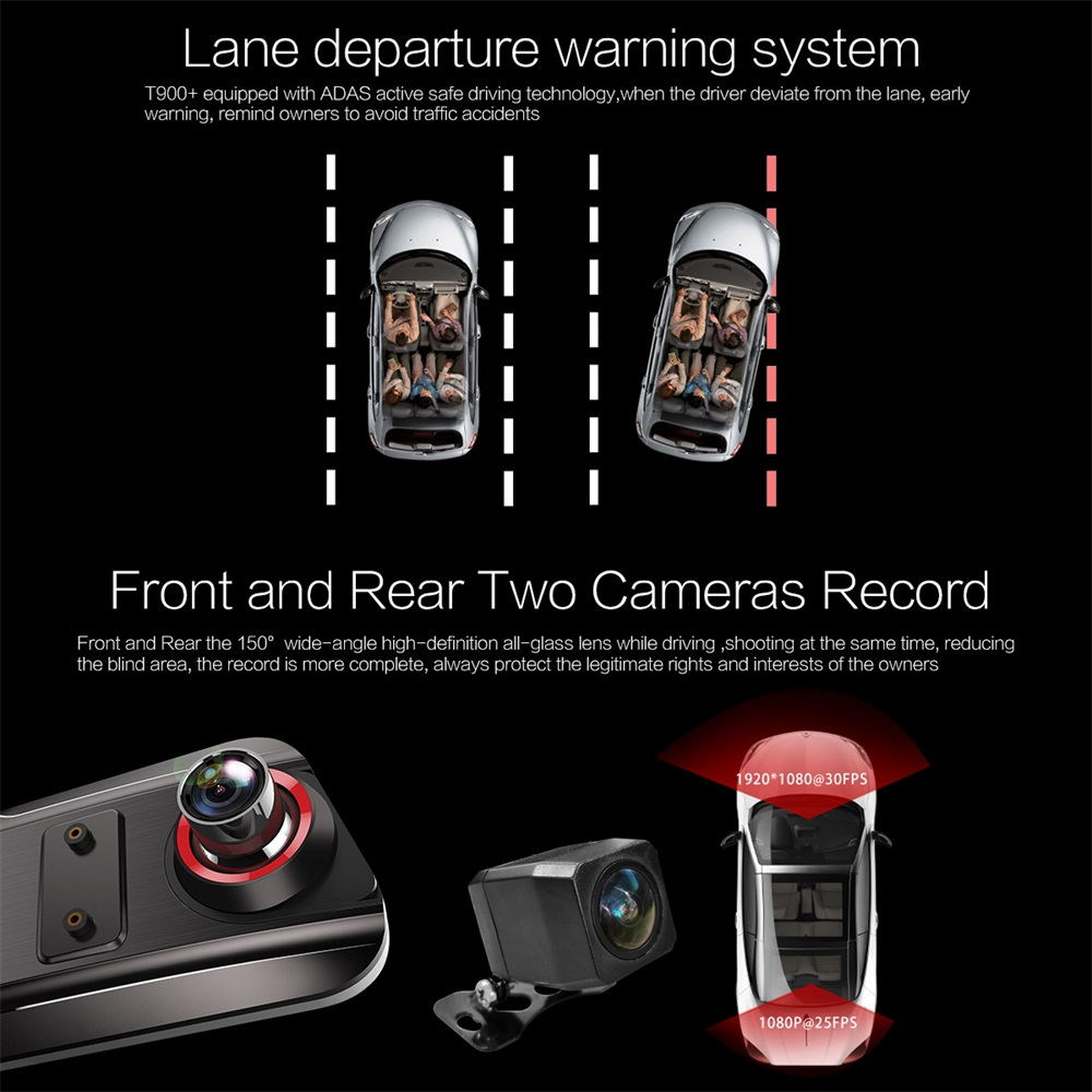 2019 anytek t900+ basic mirror camera