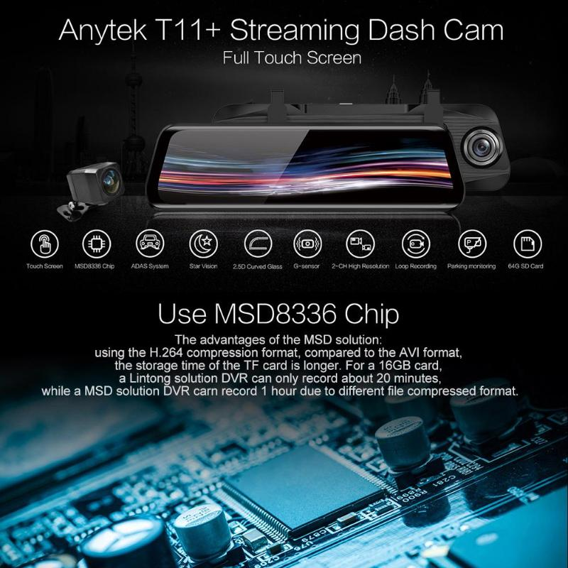 anytek car dash cam camera