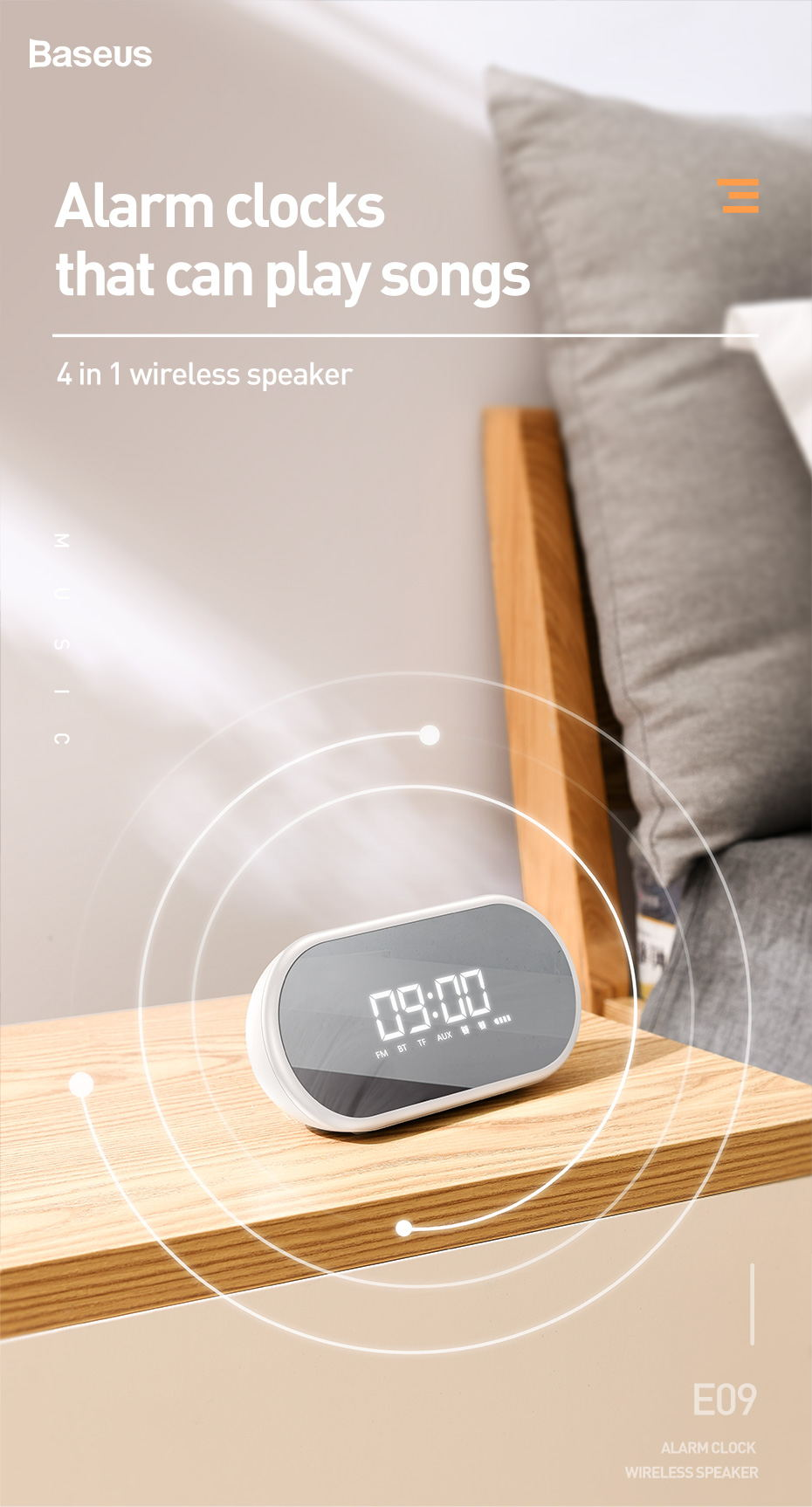 baseus e09 wireless bluetooth speaker