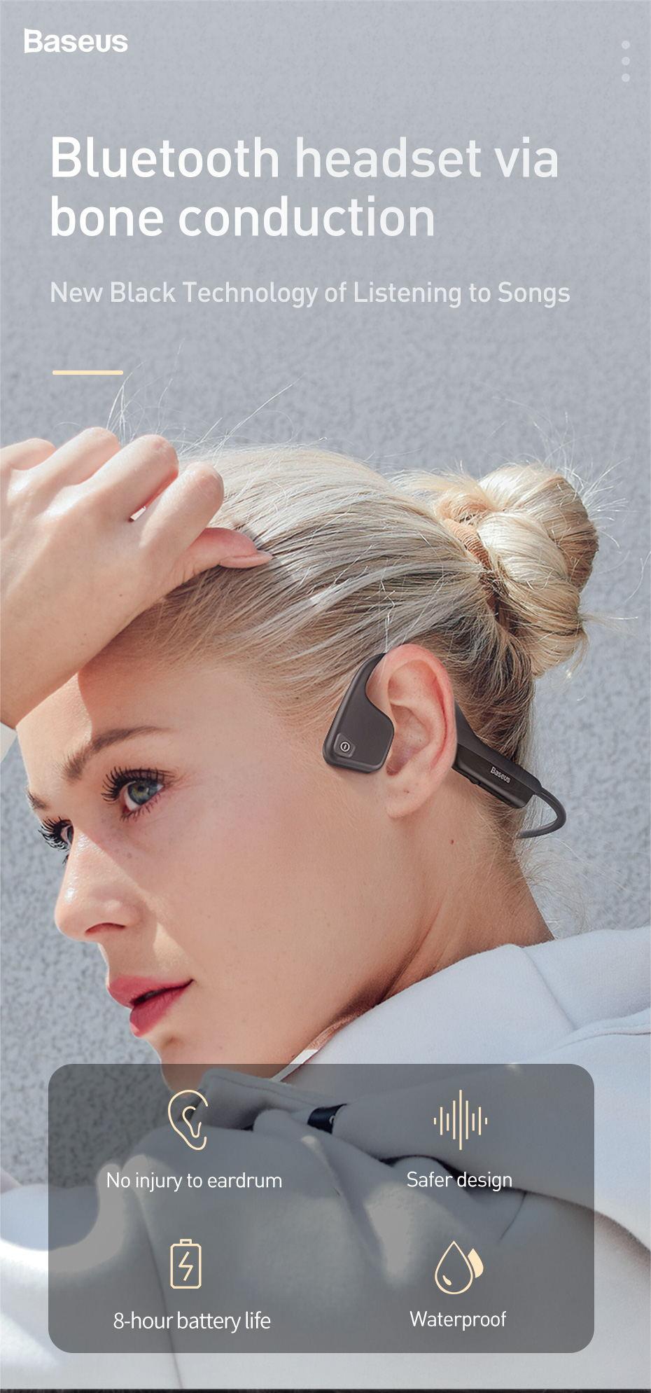 Auricular Baseus BC10 Bluetooth - nueva tecnología negra de conducción ósea Baseus-bc10-bone-conduction-earphone-1
