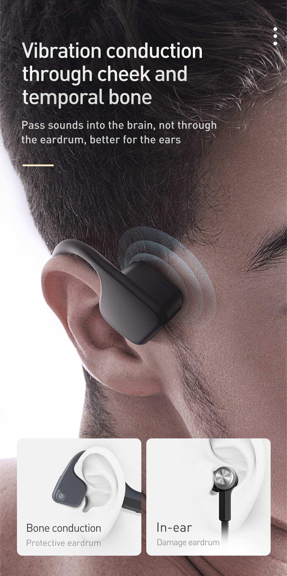 baseus bc10 bone conduction earphone
