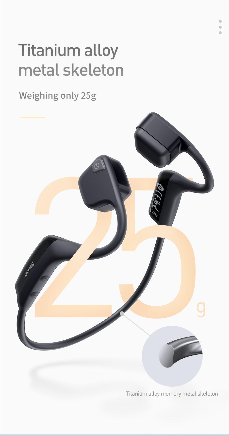 new baseus bc10 bone conduction earphone