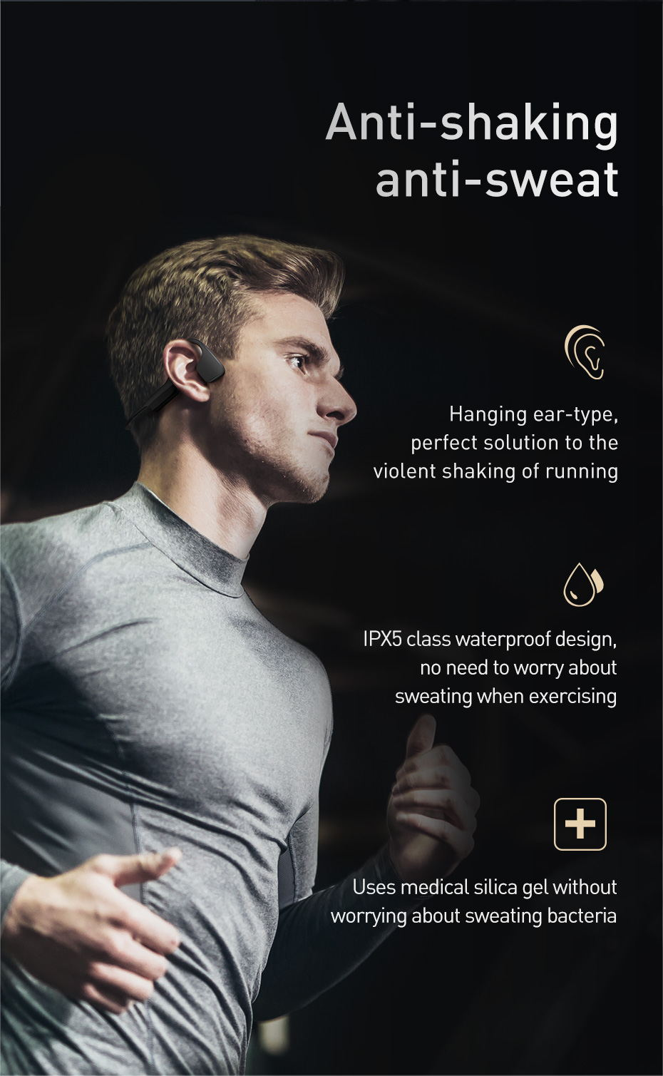 new baseus bc10 bone conduction wireless earphone