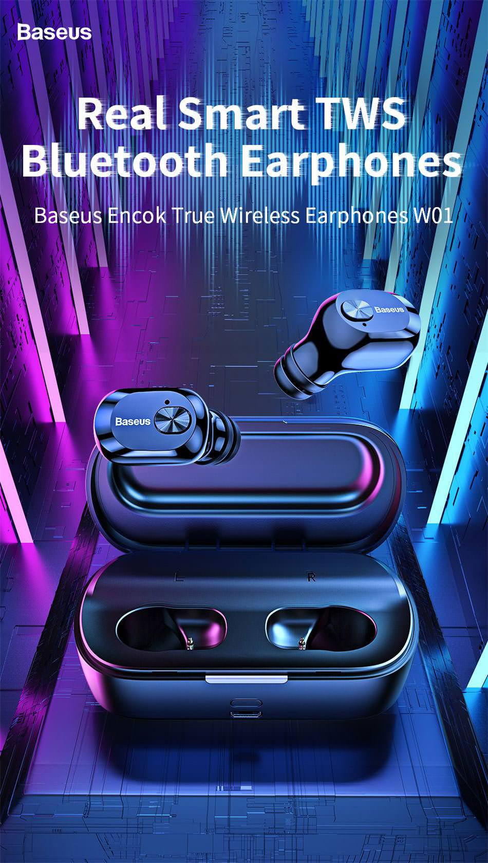 baseus w01 tws earphone