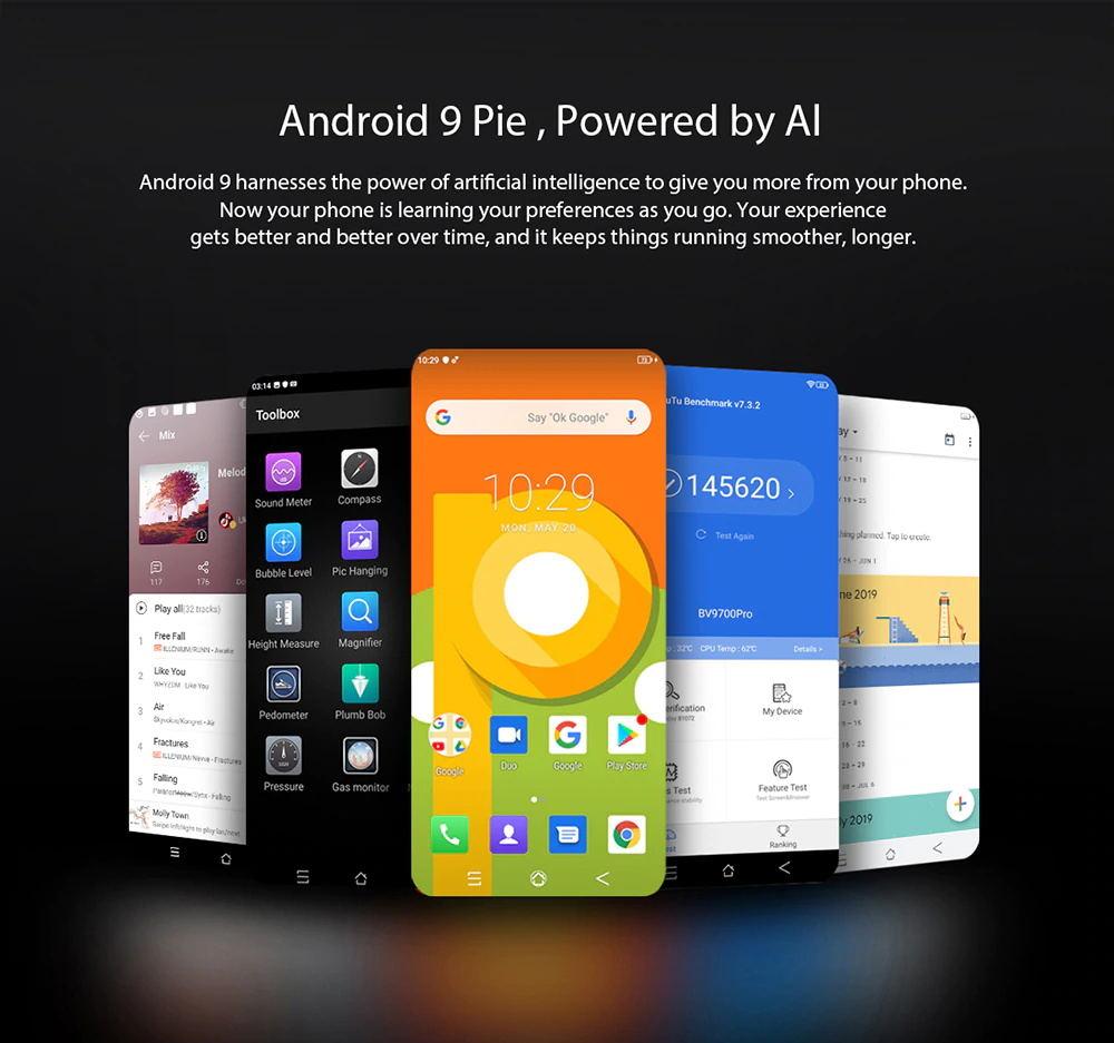 new global blackview bv9700 pro  smartphone