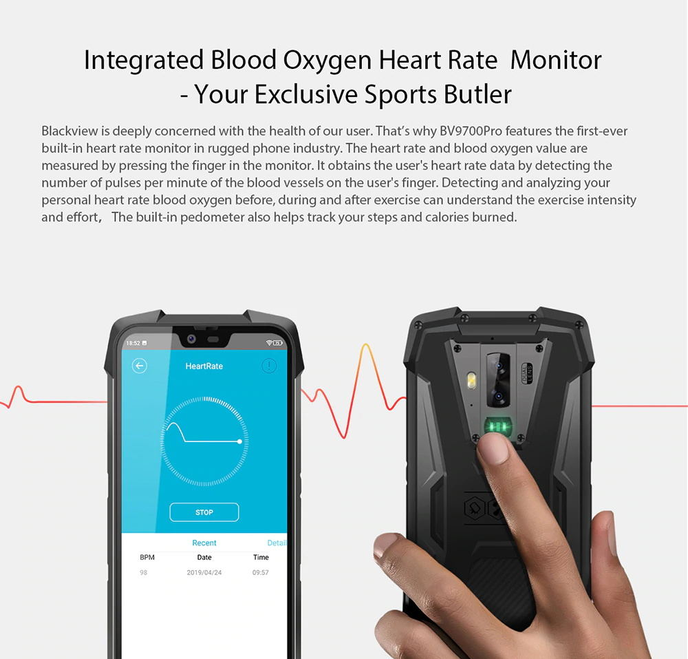 new blackview bv9700 pro 4g smartphone
