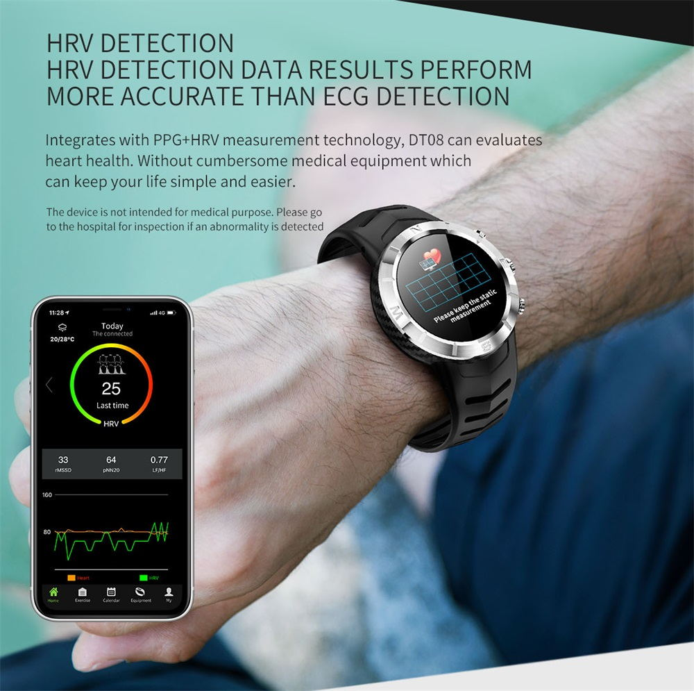 new dtno.1 dt08 bluetooth smartwatch