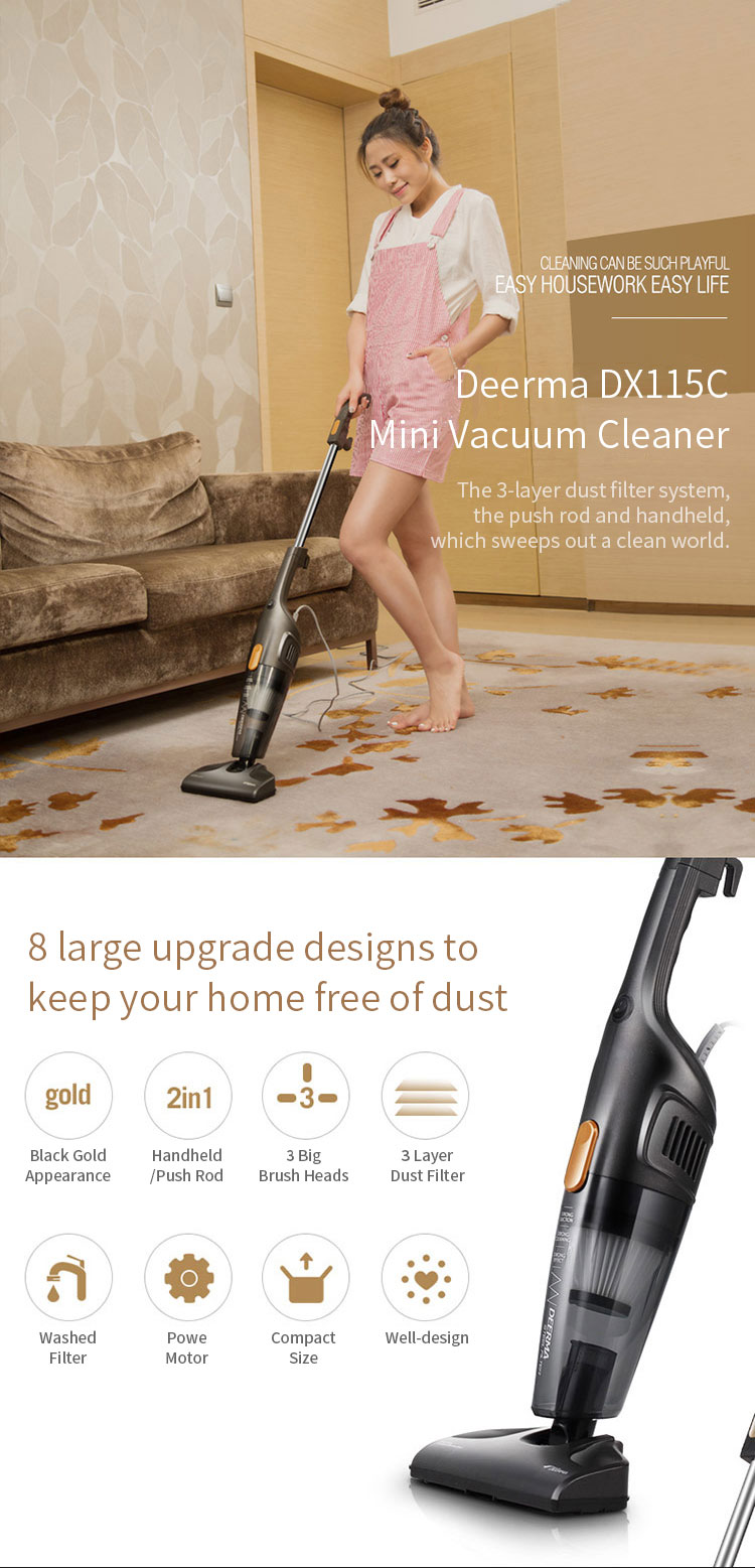 deerma dx115c mini vacuum cleaner