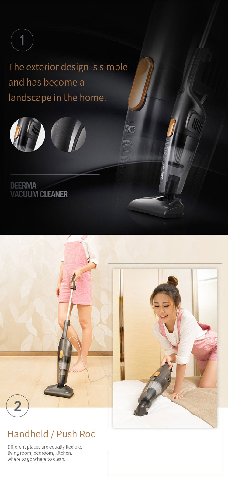 buy deerma dx115c mini vacuum cleaner