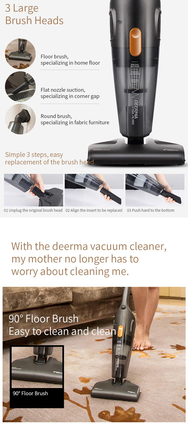deerma dx115c mini vacuum cleaner for sale