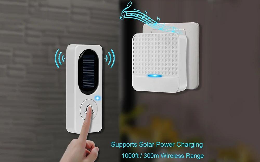 buy fk-d009 wireless solar doorbell