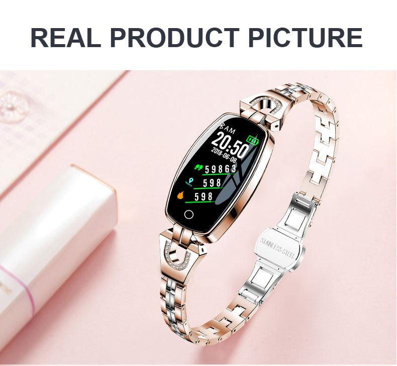 h8 smart bracelet gold