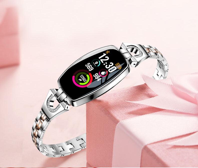 h8 smart bracelet silver
