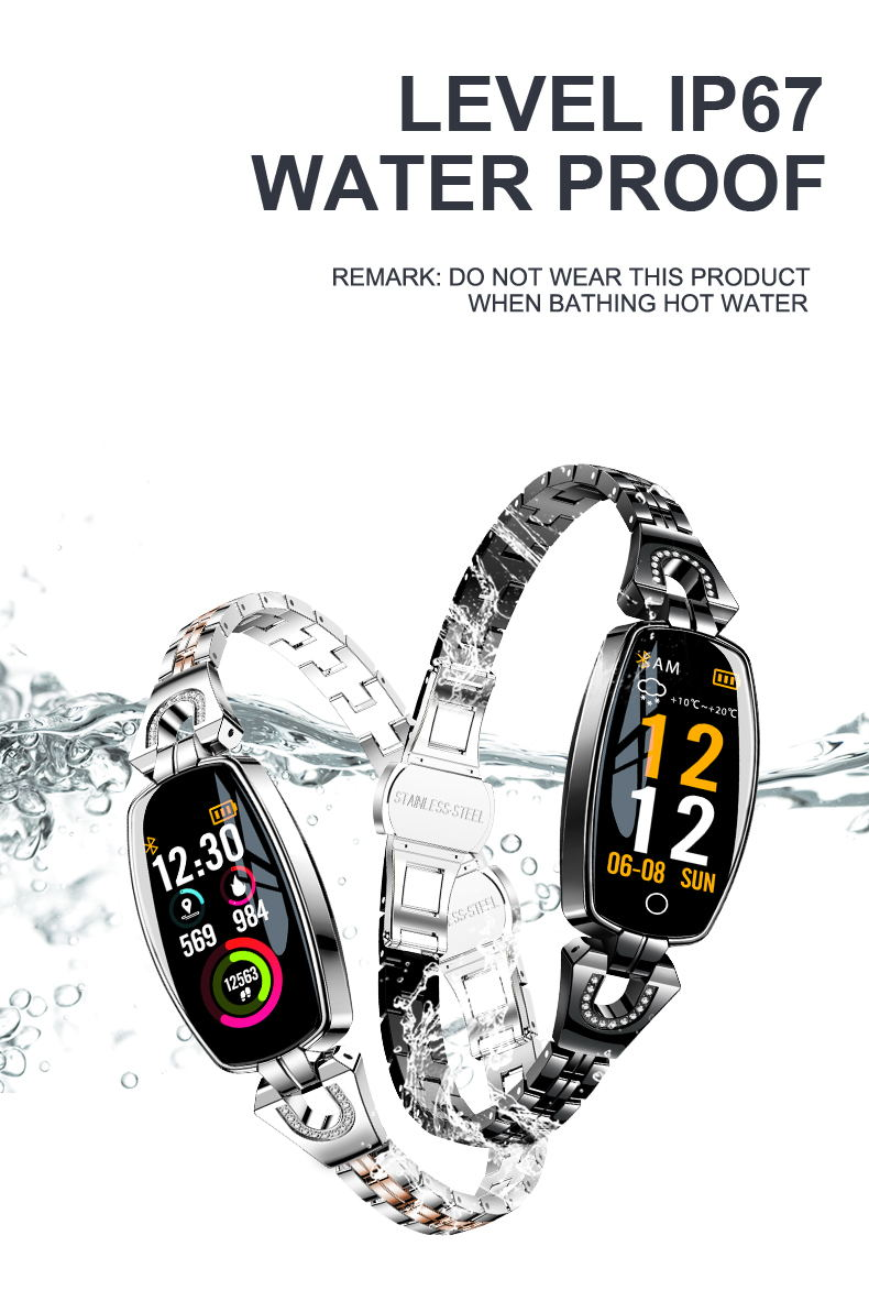 h8 color screen smart bracelet price