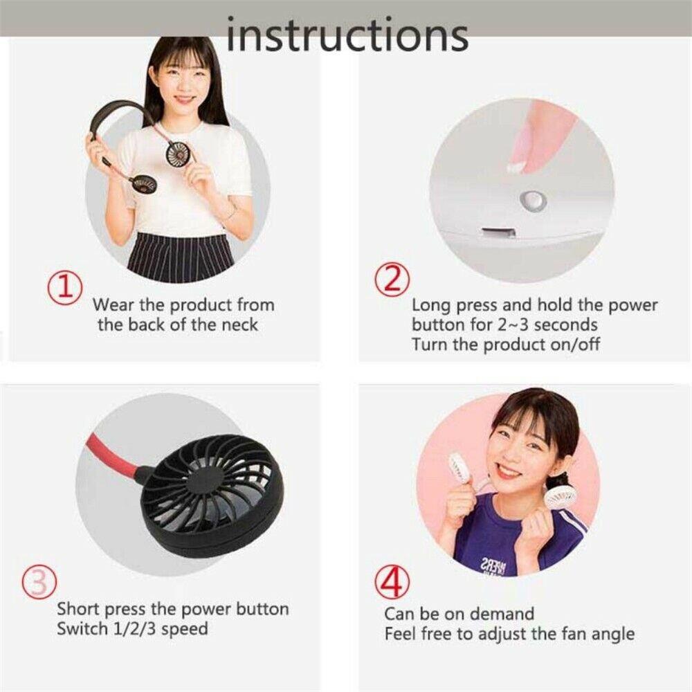 neckband dual cooling mini fan
