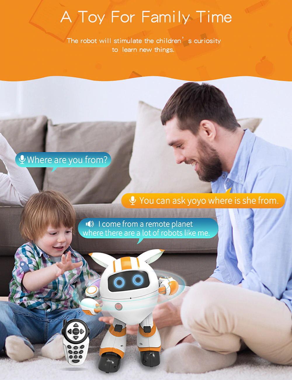 new jjrc r14 kaqi-yoyo smart rc robot