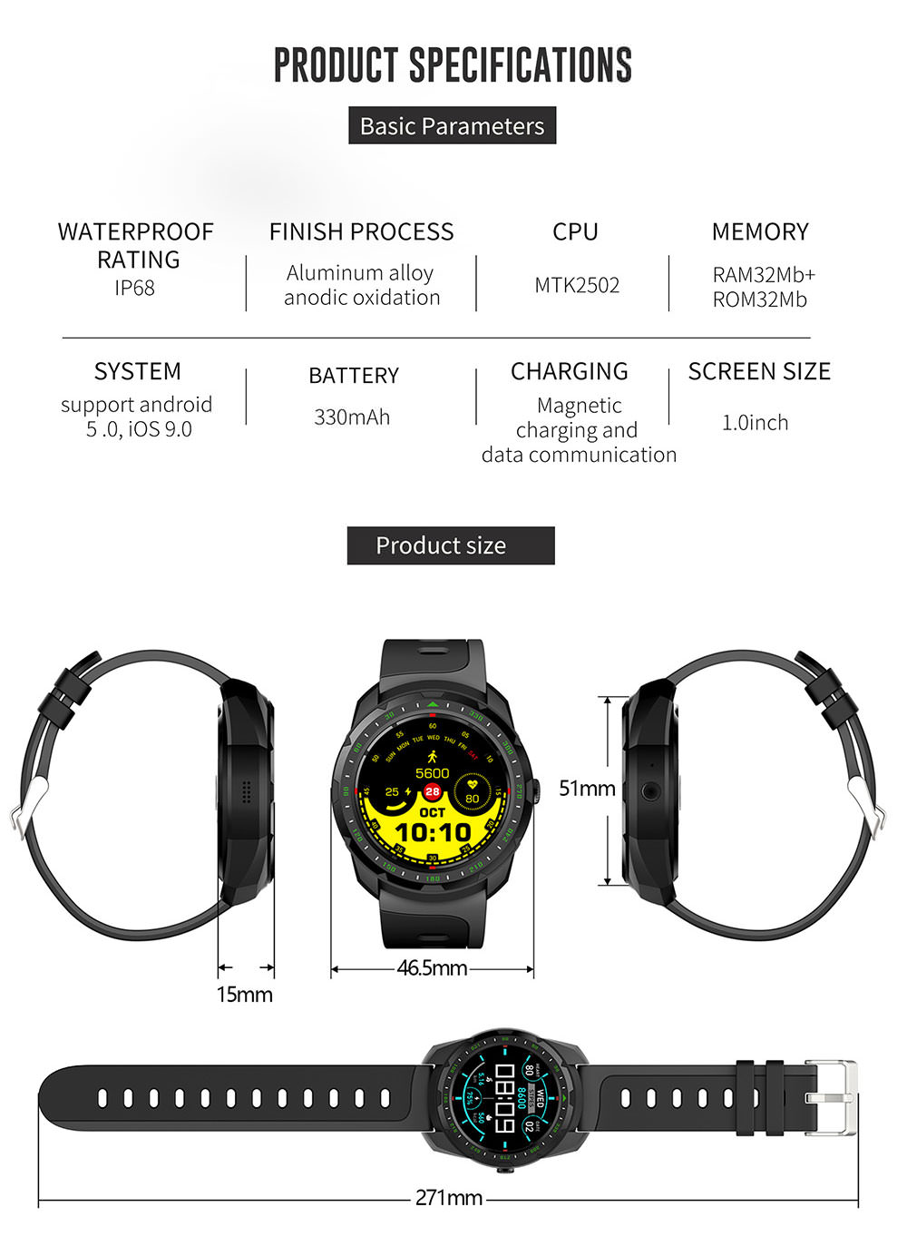 kingwear kw01 bluetooth smartwatch 2019