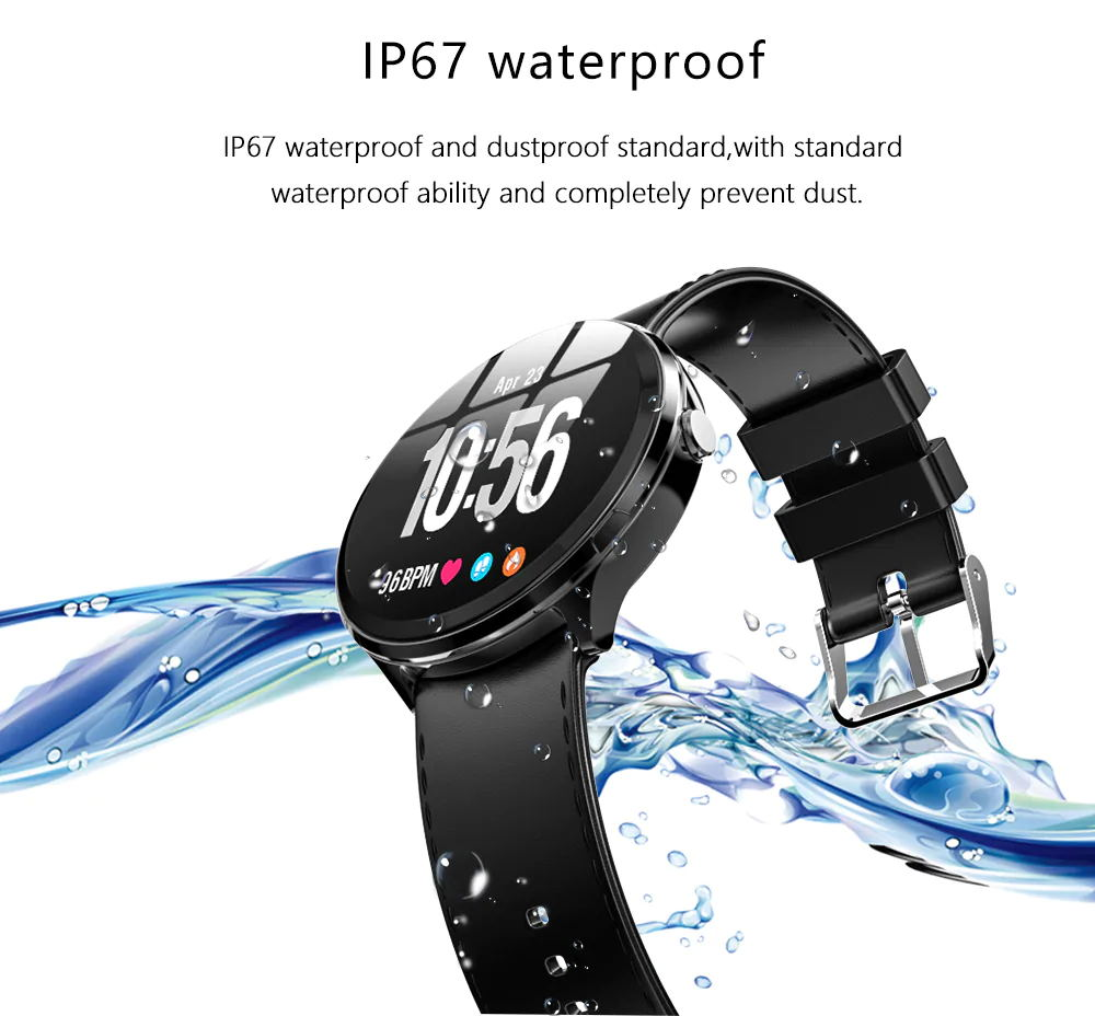 new kospet v12 leather smartwatch