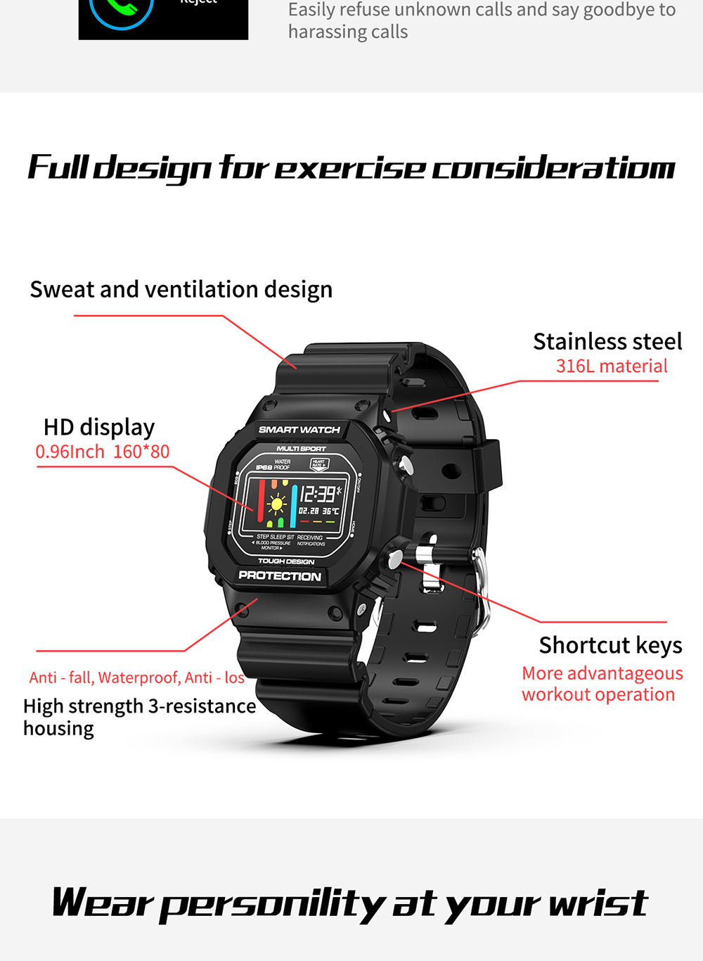 microwear x12 touch screen smartwatch