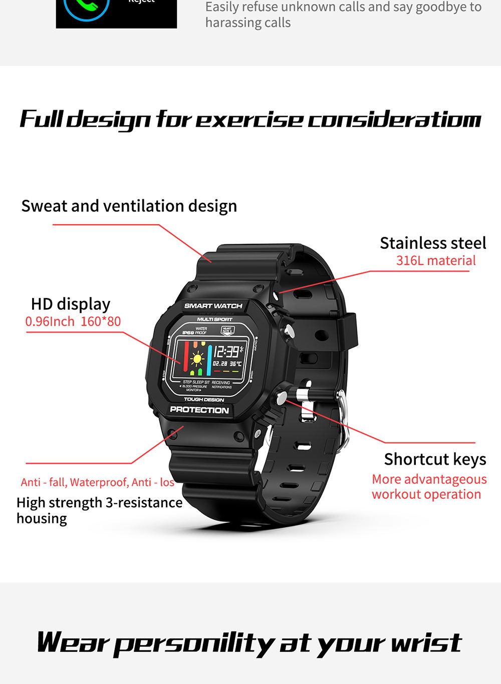 microwear x12 touch screen smartwatch
