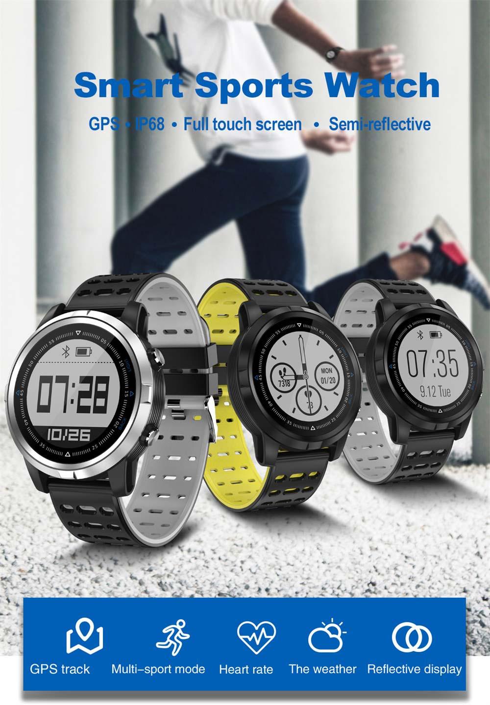 N105 GPS reloj inteligente - pantalla táctil completa, monitor de frecuencia cardíaca N105-GPS-Smartwatch-1