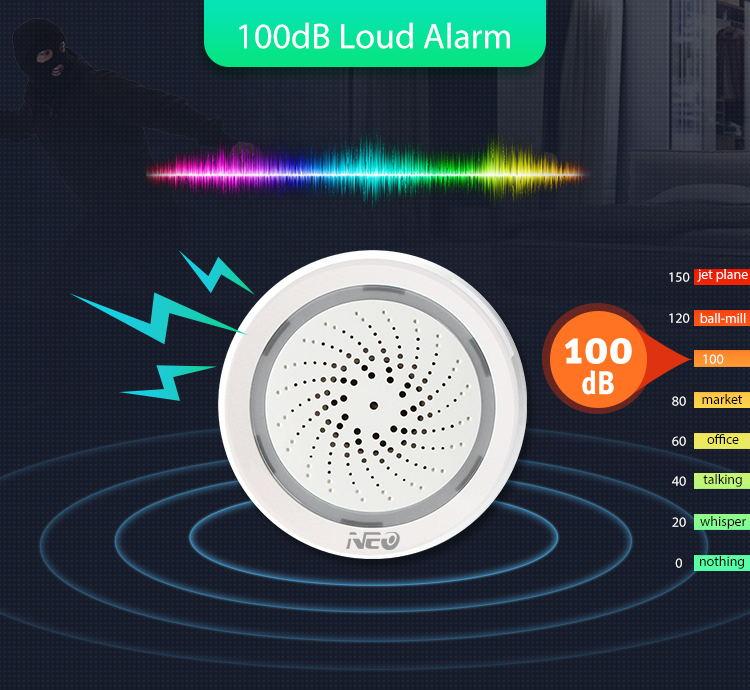 neo alarm sensor with temperature function