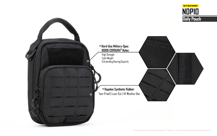 nitecore ndp10 short trips daily pouch