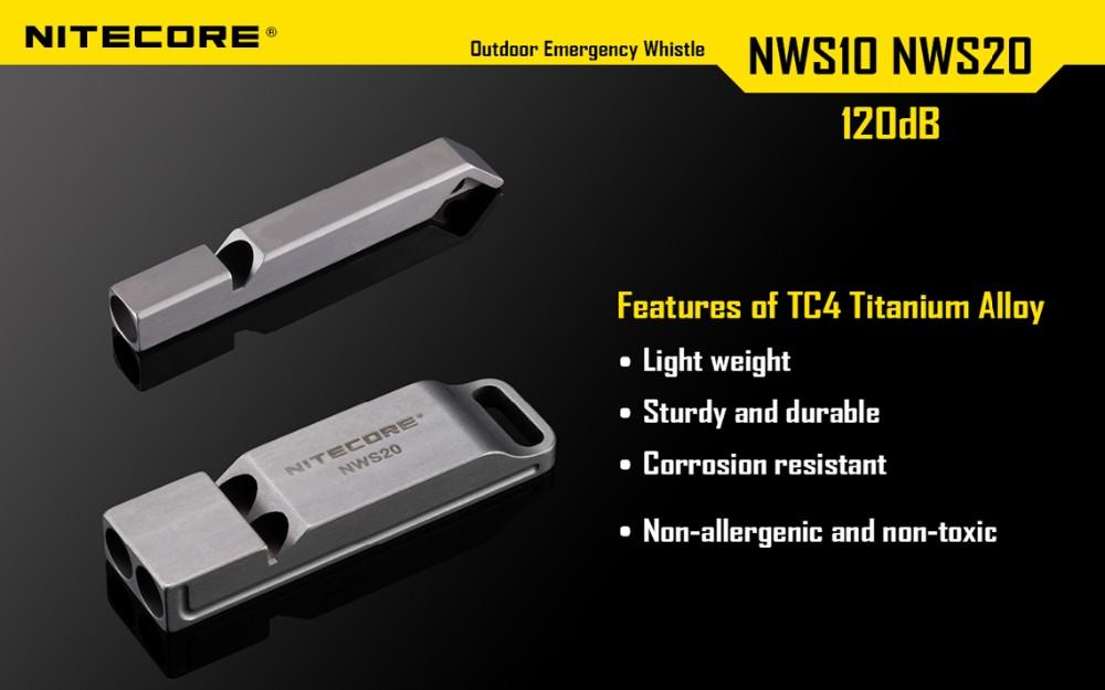 new nitecore nws10 emergency whistle