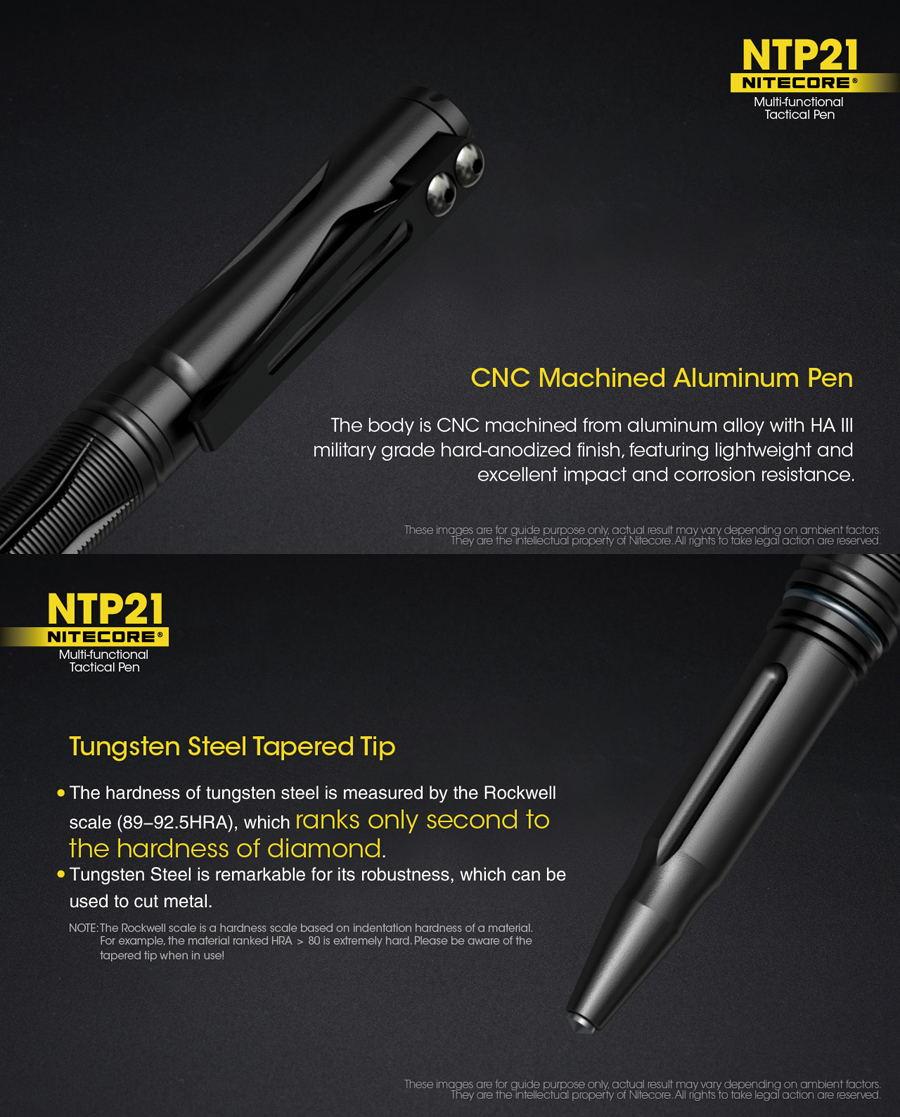 nitecore ntp21 aluminum alloy pen