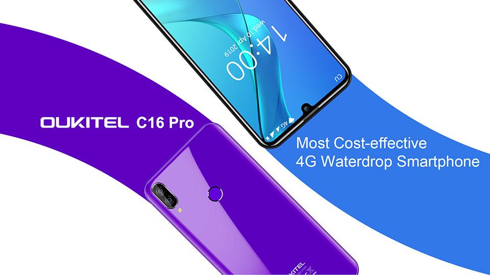 oukitel c16 pro 4g smartphone