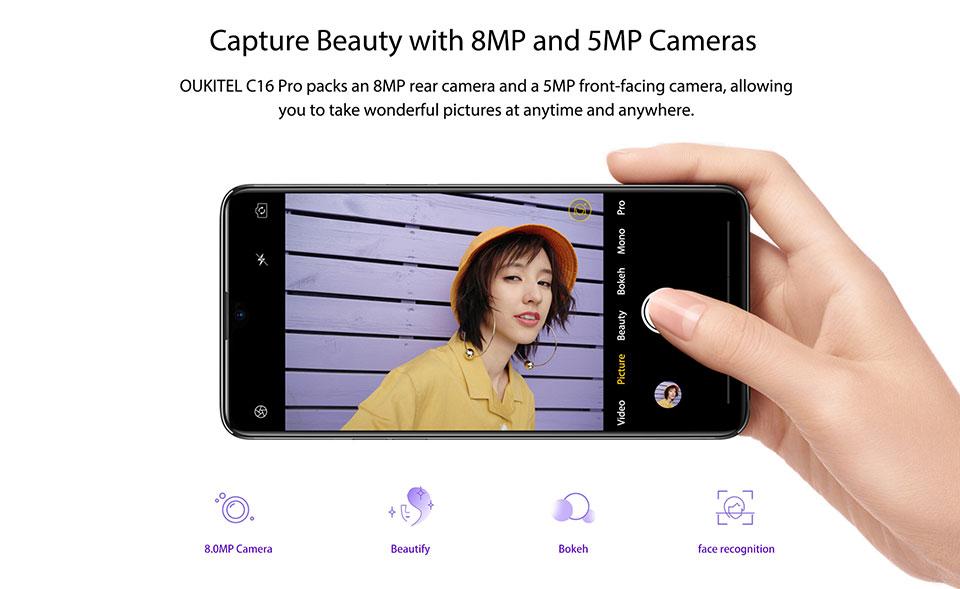 2019 oukitel c16 pro 4g smartphone