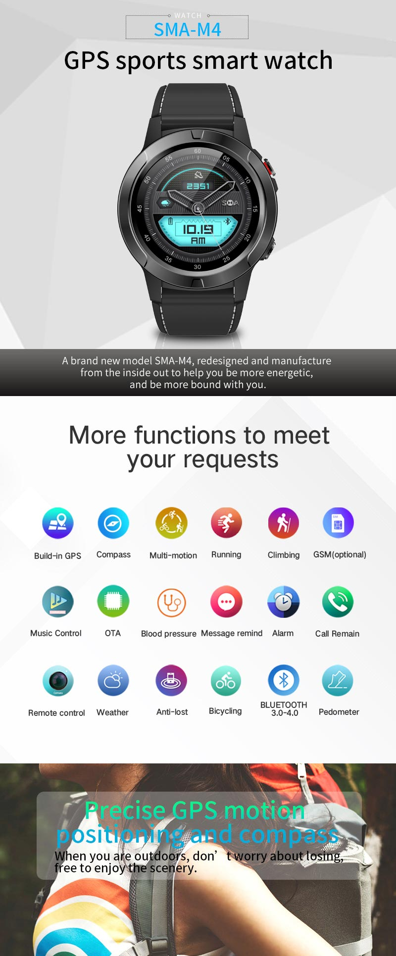 sma-m4 bluetooth smartwatch