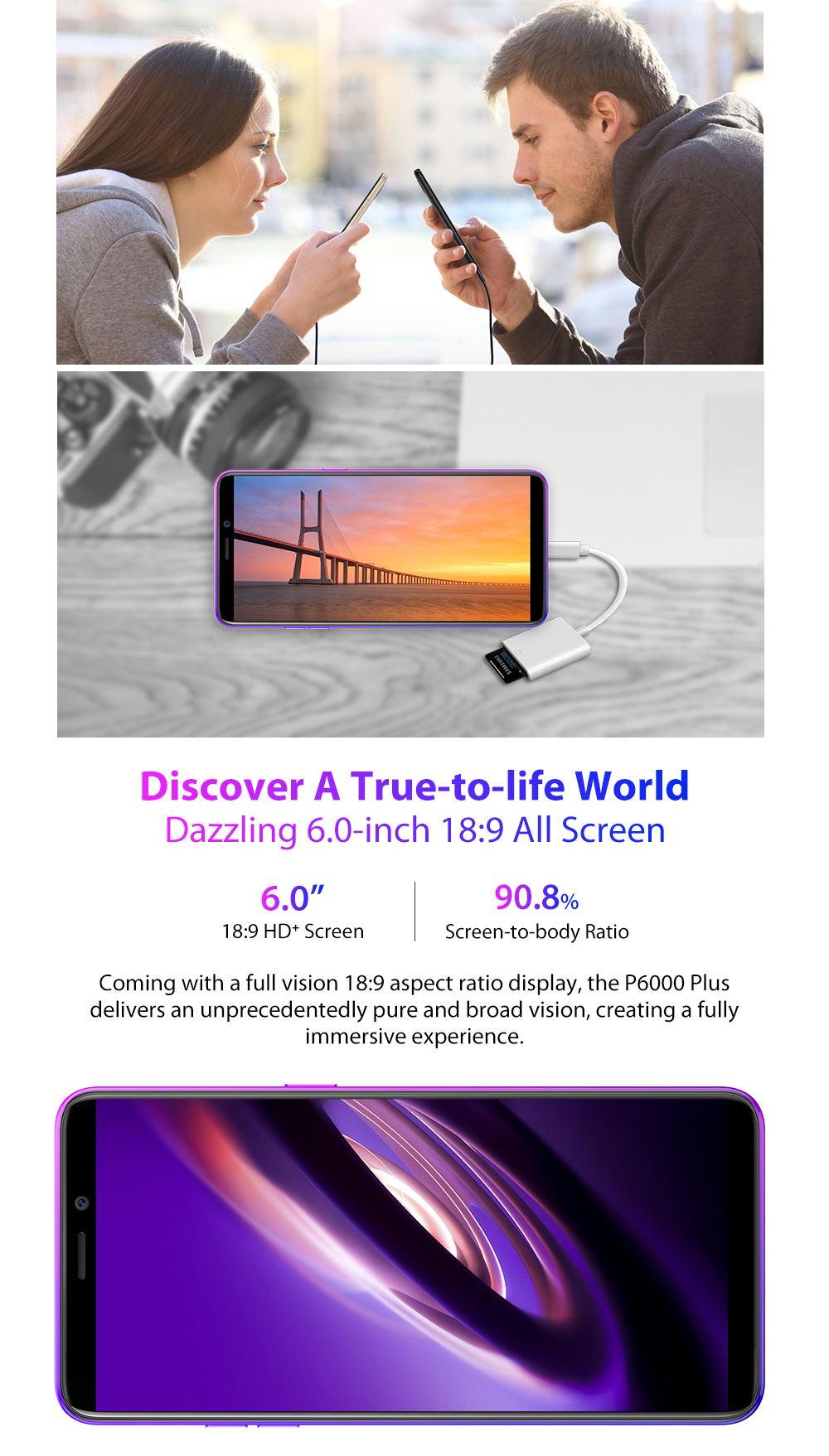 new ulefone p6000 plus 4g smartphone