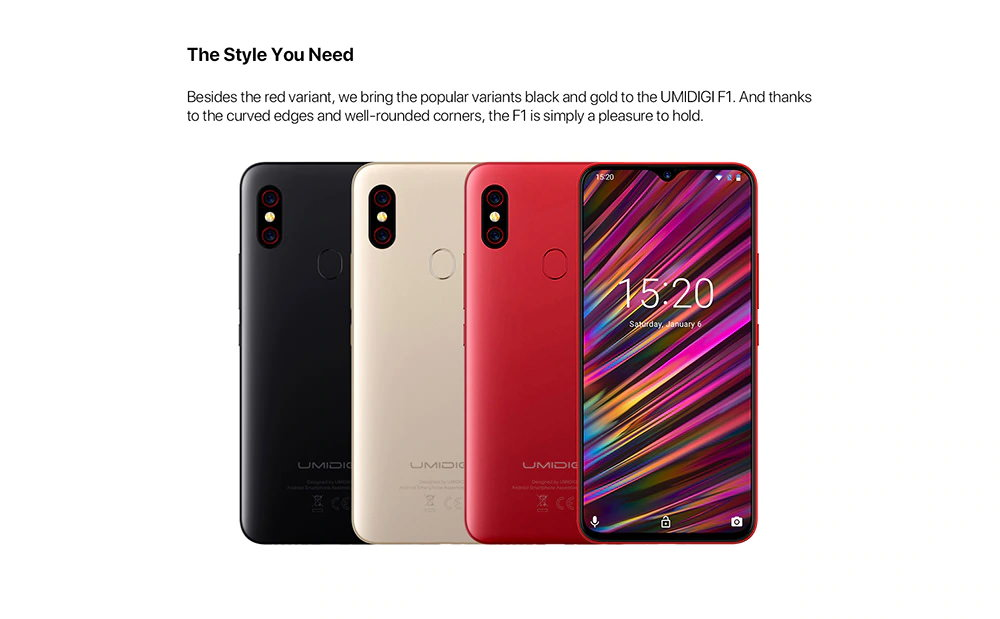 umidigi f1 smartphone 4gb 128gb global version 2019