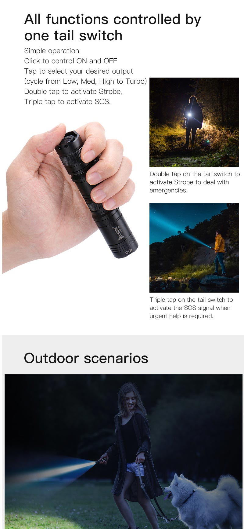 new wuben e10 osram p9 flashlight