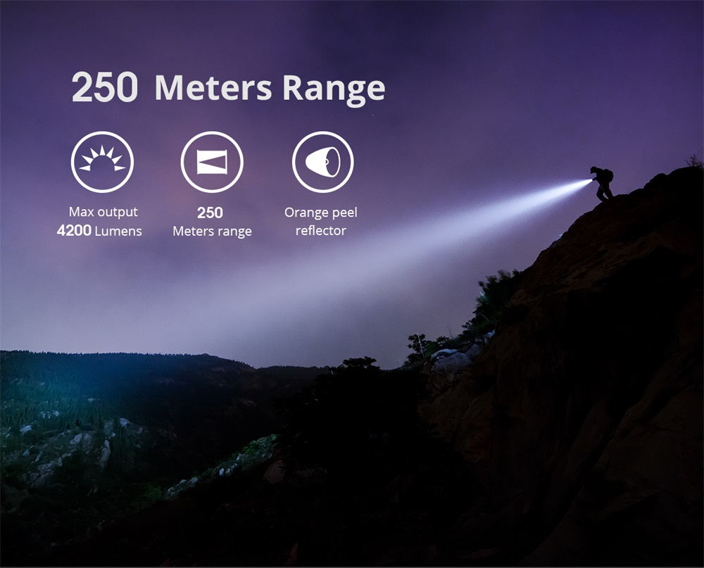 wuben t70 led flashlight