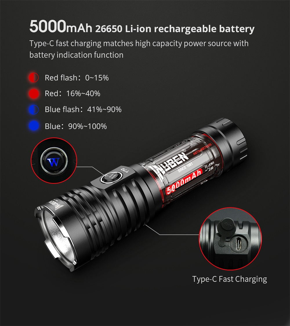 buy wuben t70 led flashlight
