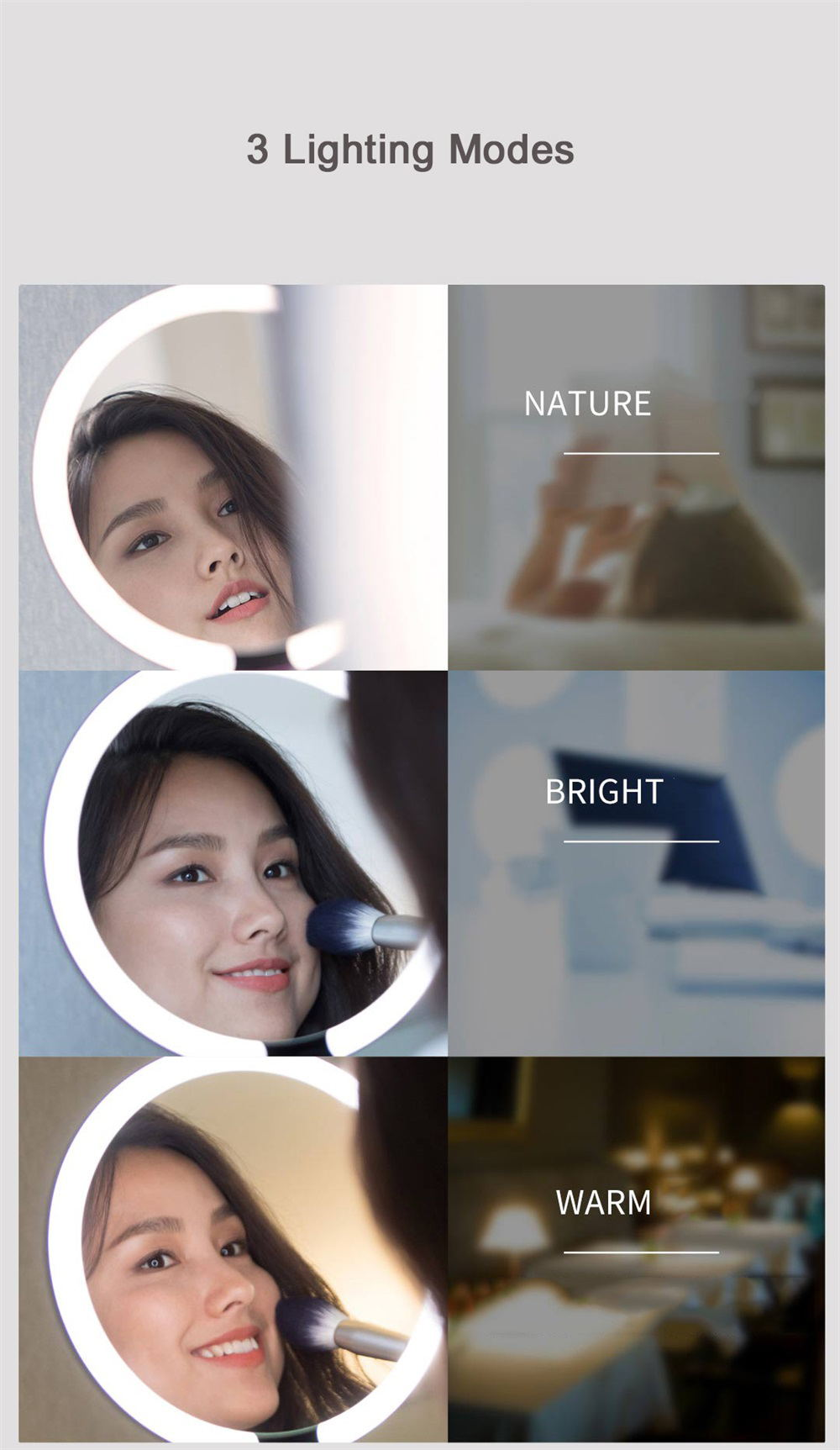 xiaomi amiro aml005b led makeup mirror
