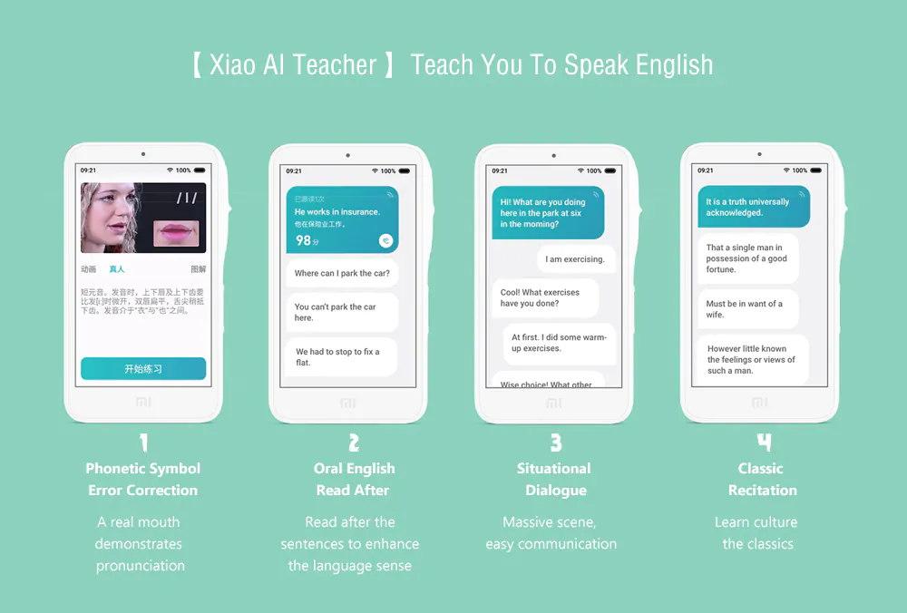 new xiaomi xiao ai teacher learning machine