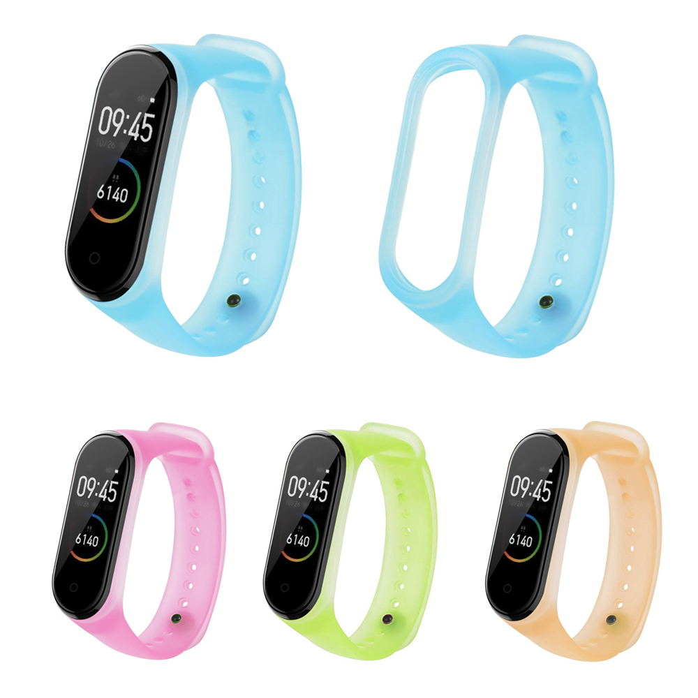 xiaomi mi band 4 jelly translucent replacement watchband
