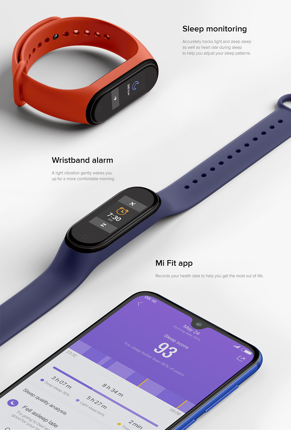 xiaomi mi band 4 smart wristband for sale