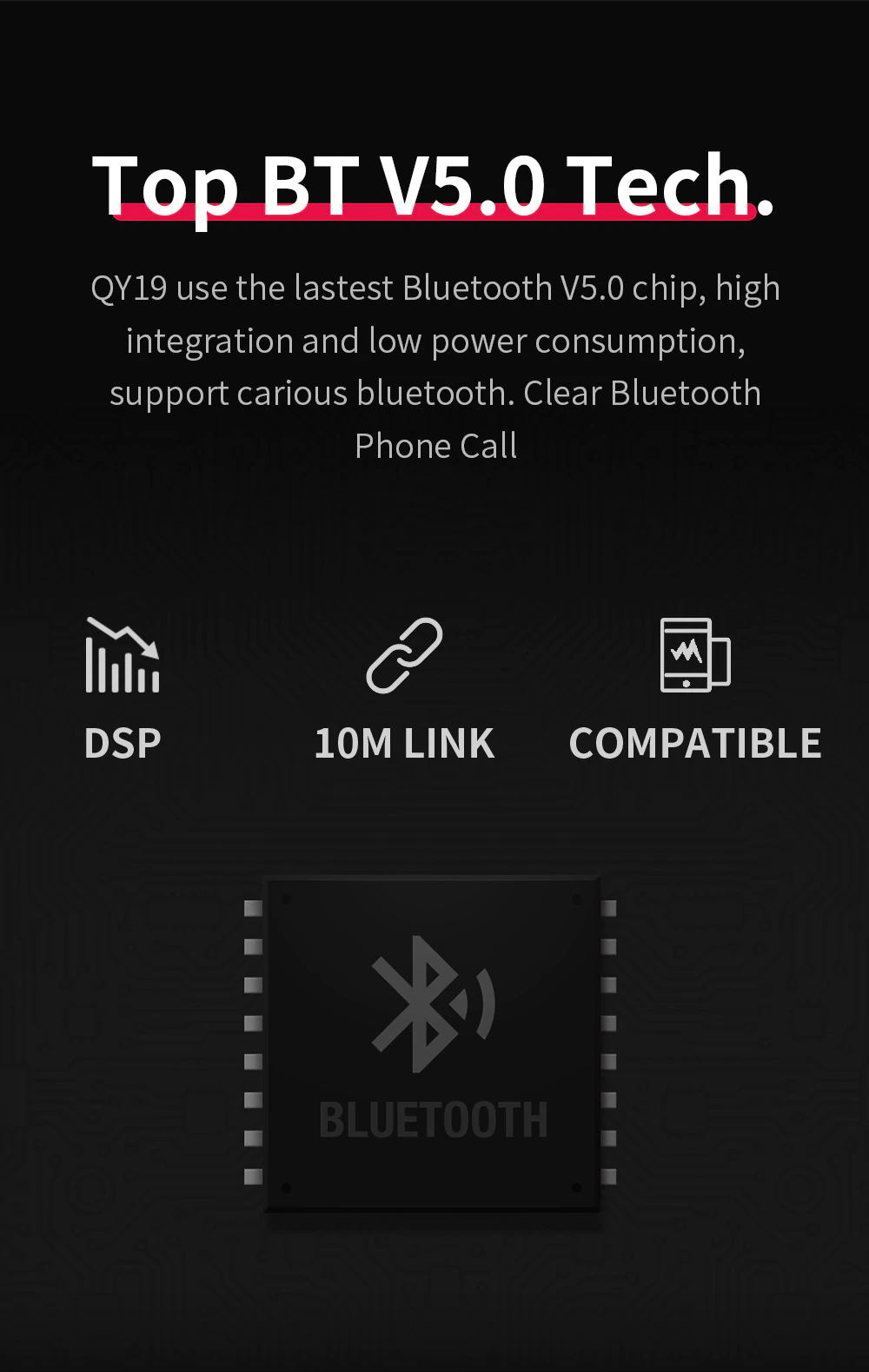 new qcy qy19 wireless bluetooth earphone
