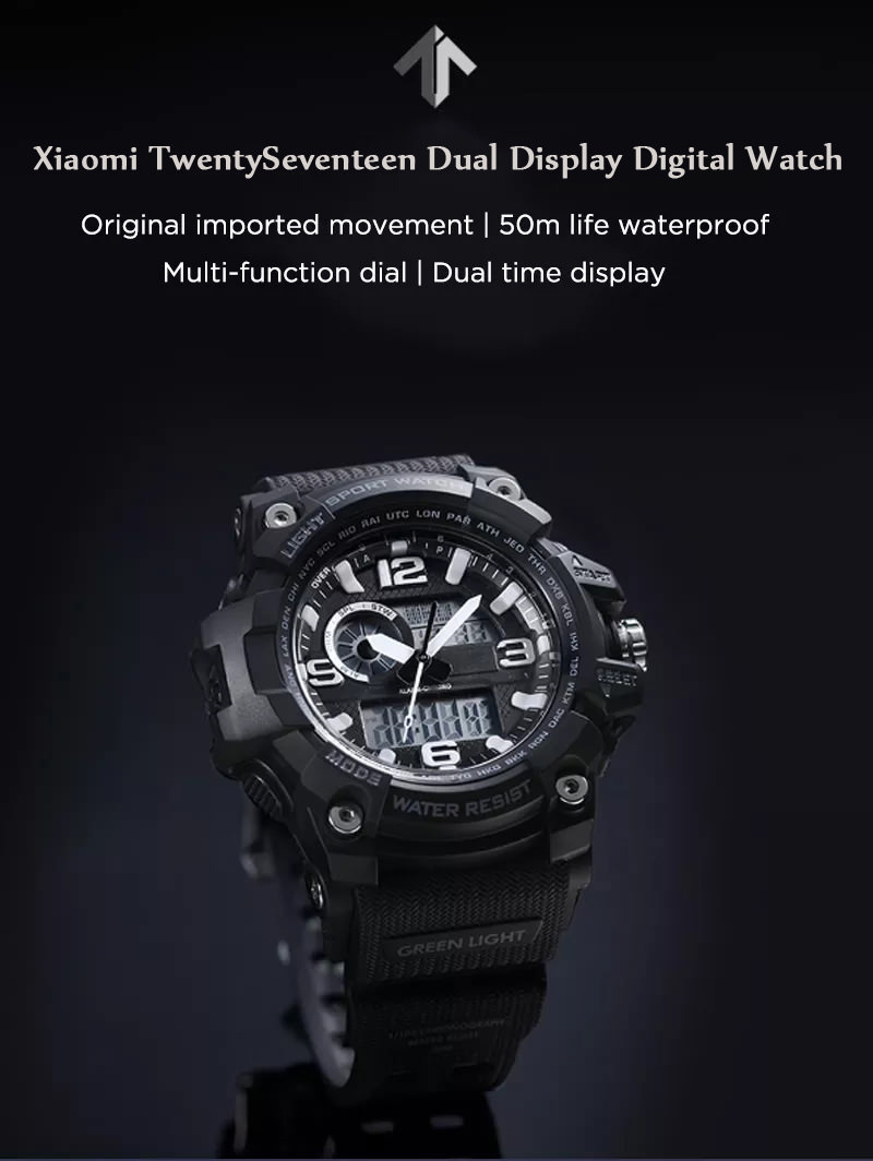 xiaomi twentyseventeen dual display digital watch