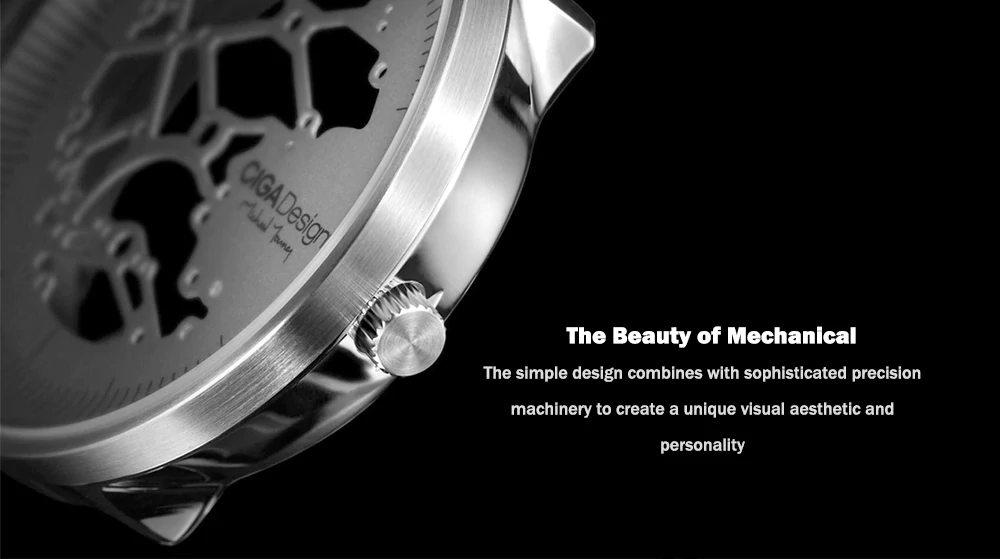 xiaomi ciga hollowed-out mechanical watch
