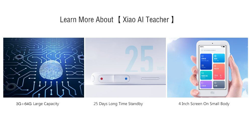 xiaomi xiaoai f6m1aa 4g wifi teacher learning machine 2019