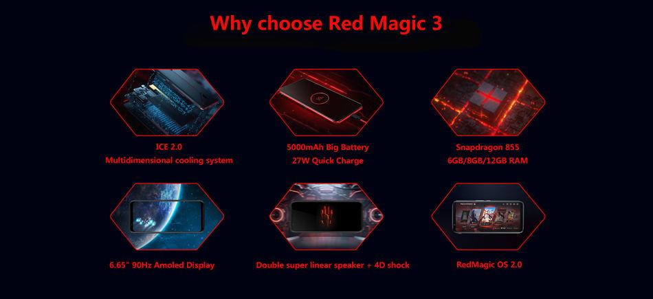 Αγοράστε zte nubia κόκκινο μαγεία 3 smartphone