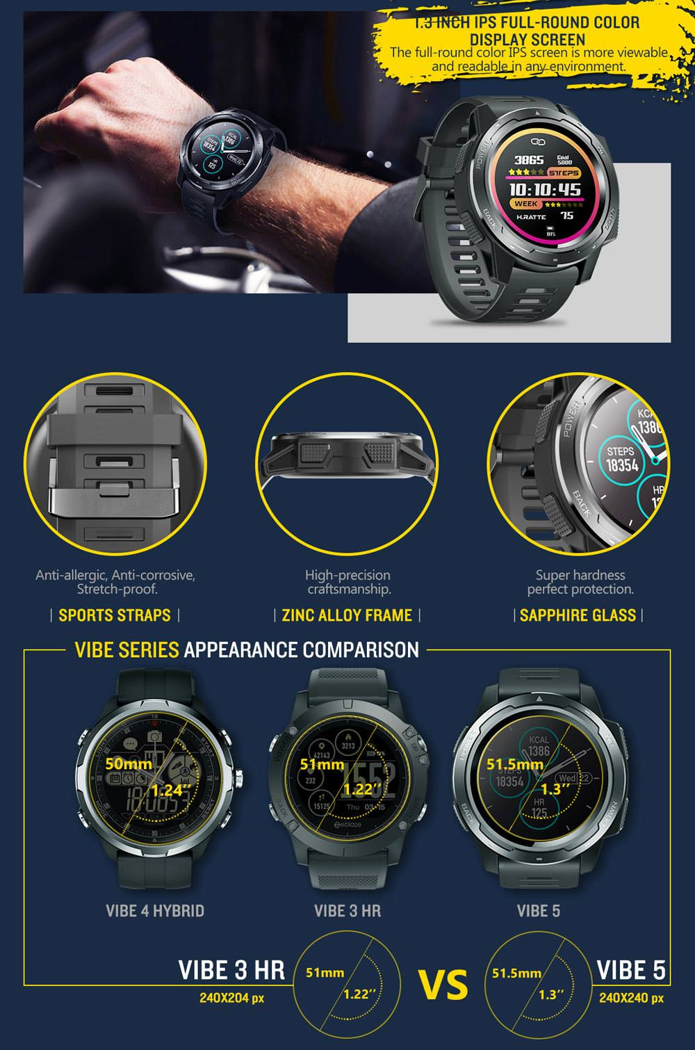 buy zeblaze vibe 5 bluetooth smartwatch